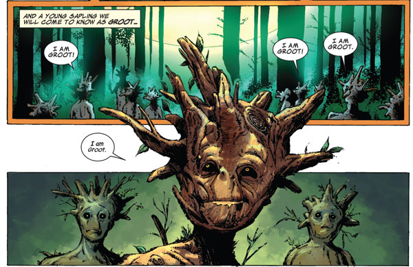 panels from Guardians of the Galaxy #14 (2014), script by Andy Lanning, art by Phil Jimenez and John Livesay