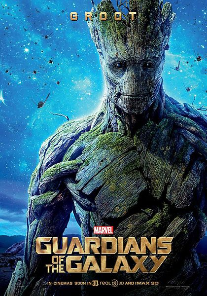 """Guardians of the Galaxy"" poster starring Groot"