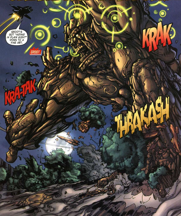 panel from Nick Fury's Howling Commandos #2 (2006), script by Keith Giffen, art by Eduardo Francisco and Robert Campanella