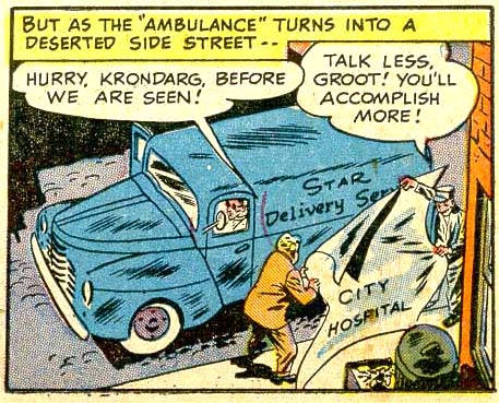 "panel from ""The Dead Man's Chest"" in Sensation Comics #85 (1949), script by Robert Kanigher, art by Bob Oksner and Bernard Sachs"