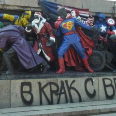 Moscow to Bulgarians: Stop Painting Superheroes on Monuments!