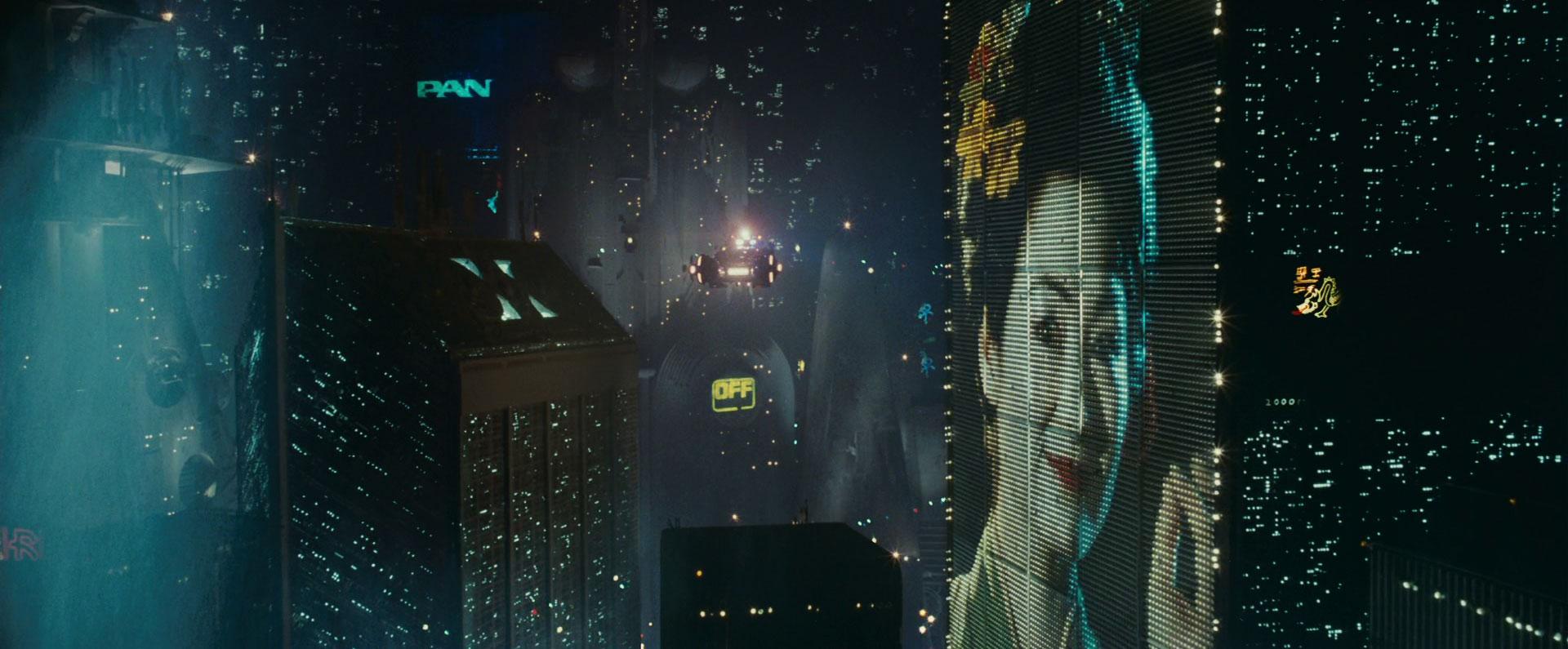 """Foto da cidade do filme """"Blade Runner – O Caçador de Androides"""