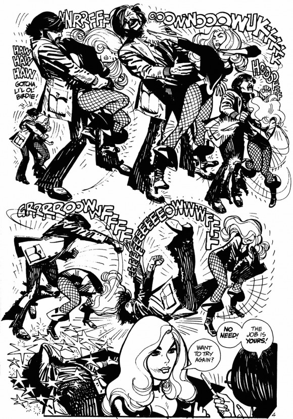 black-canary-alex-toth-bw