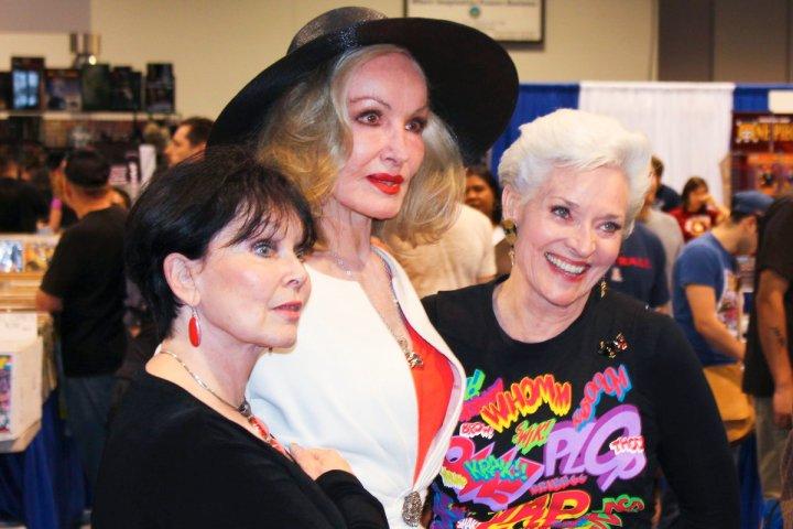 Yvonne Craig, Julie Newmar and Lee Meriwether via Scott Sebring's Facebook page.