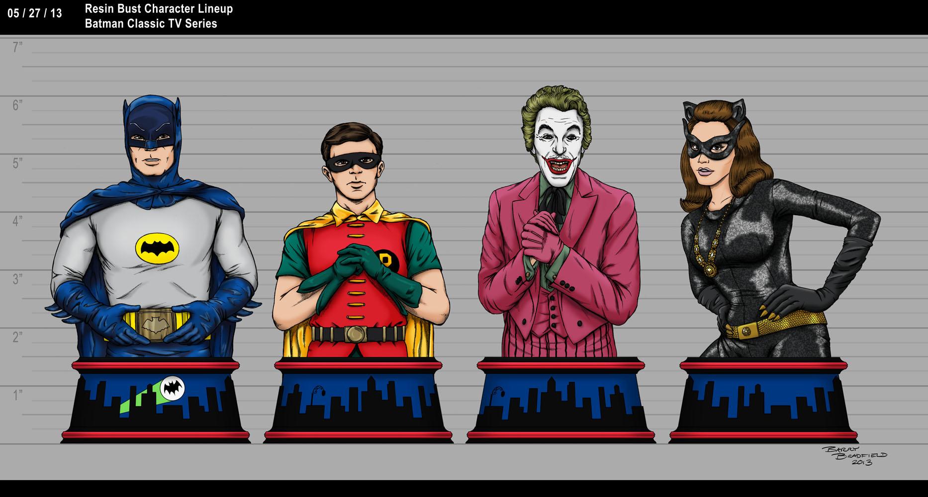 Batman Classic TV Series - Batman Resin Bust Character Lineup