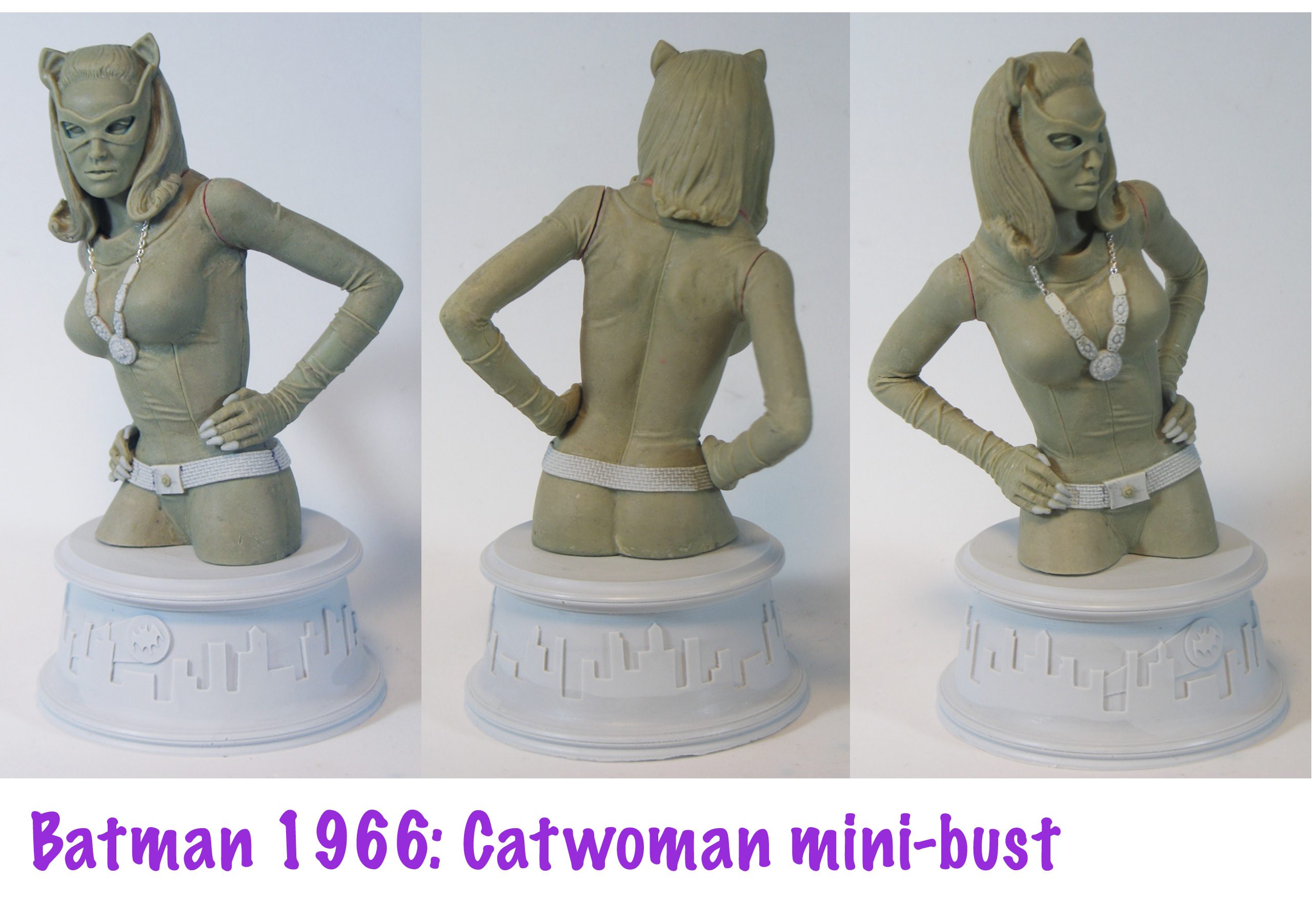 catwoman-66-minibust-clay