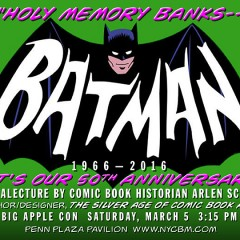 COOL EVENT ALERT: Batman '66 Lecture in NYC
