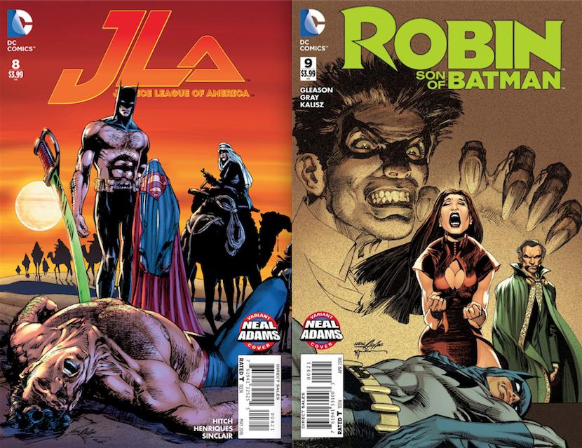 JLA colored by Alex Sinclair. Robin: Son of Batman colored by Dave McCaig.