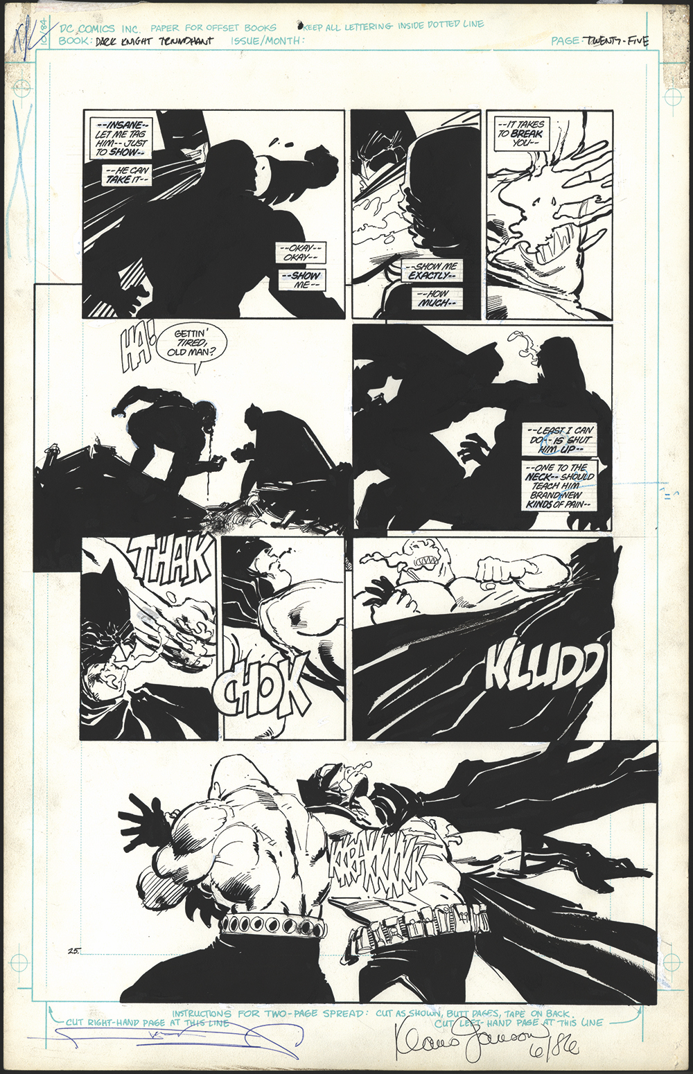 From The Dark Knight Returns Gallery Edition (Graphitti Designs)