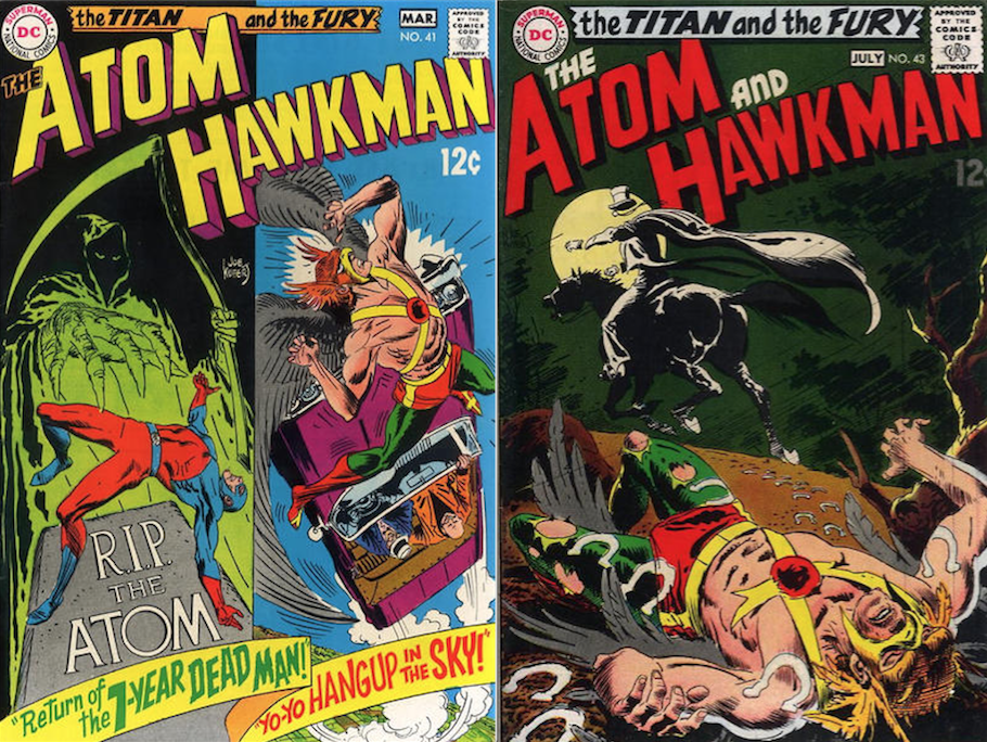 Kubert on their minds: Janson had a letter printed in Issue # (right), which referenced Issue # (left).