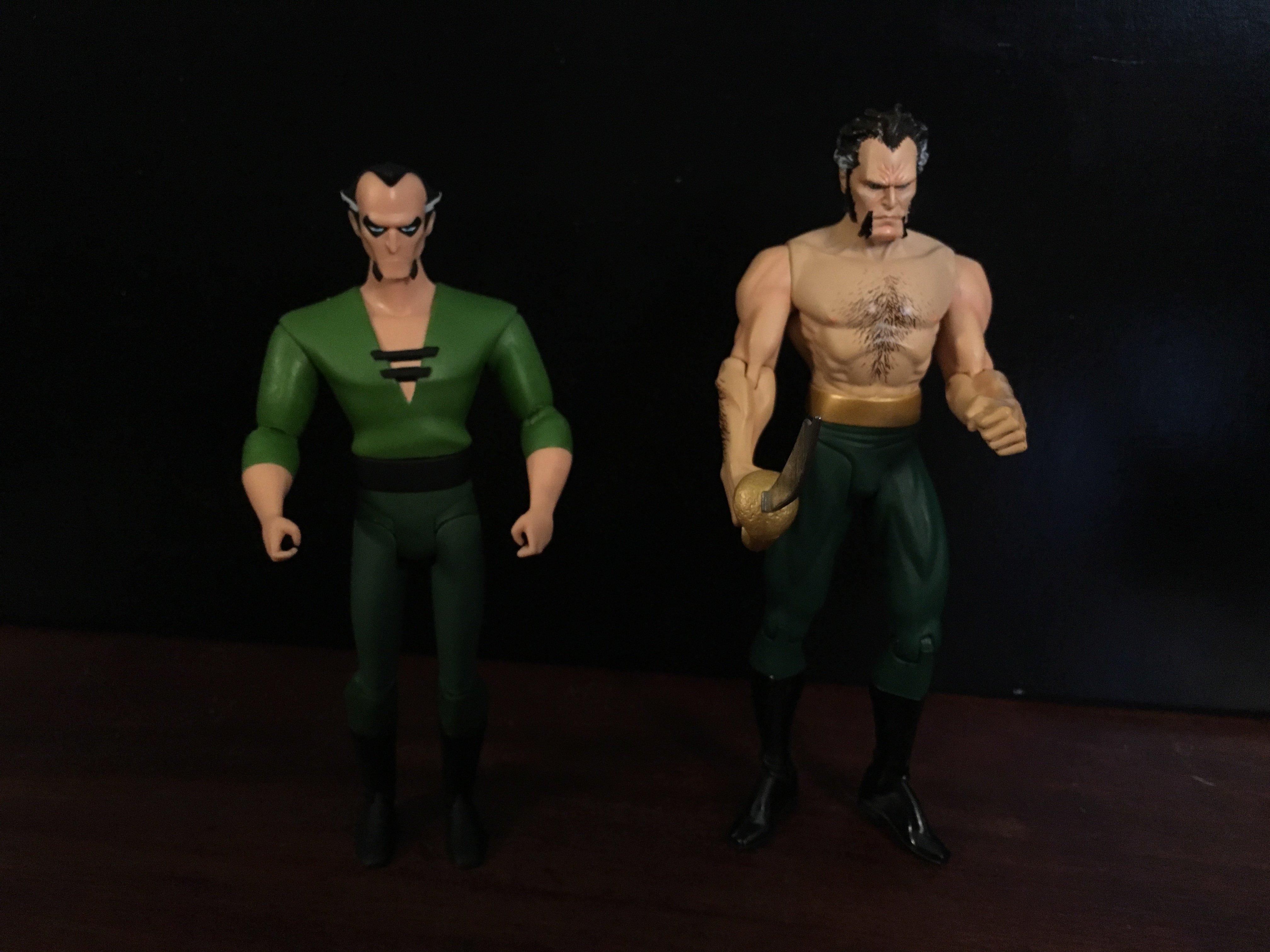 Animated Ra's and Hush Ra's (from the then-DC Direct)