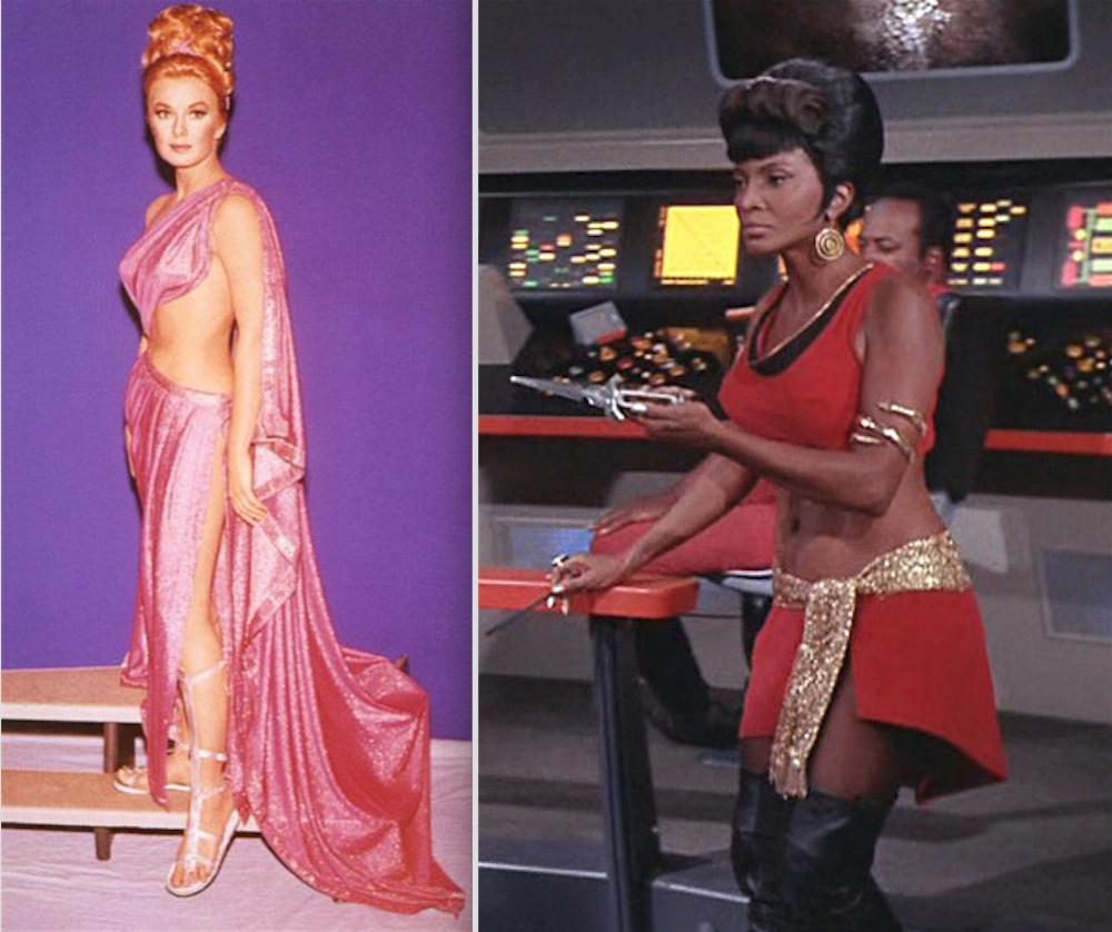Leslie Parrish as Palamas, Nichols as Uhura