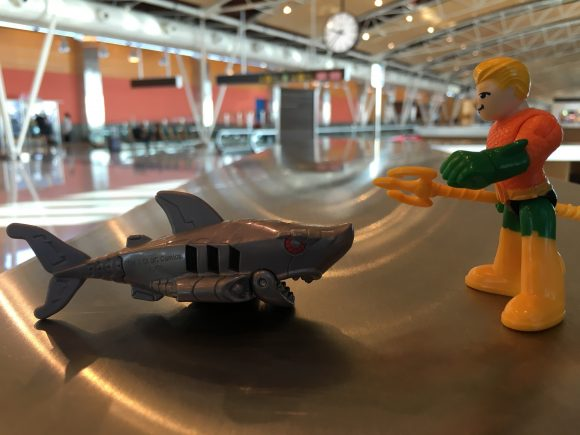 """""""Enjoy your flight, Robot Shark. I'm so glad they removed those pesky restrictions."""""""