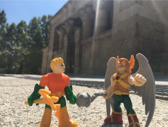 """""""Hey, Carter, I thought you left for Midway City. What are you doing in Madrid?"""" """"Well, I couldn't leave Spain without seeing the ancient Egyptian Temple of Debod."""""""