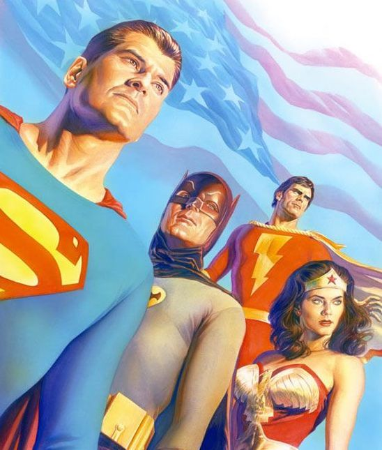 """Alex Ross' cover from """"Age of TV Heroes"""" by Jason Hofius and George Khoury"""