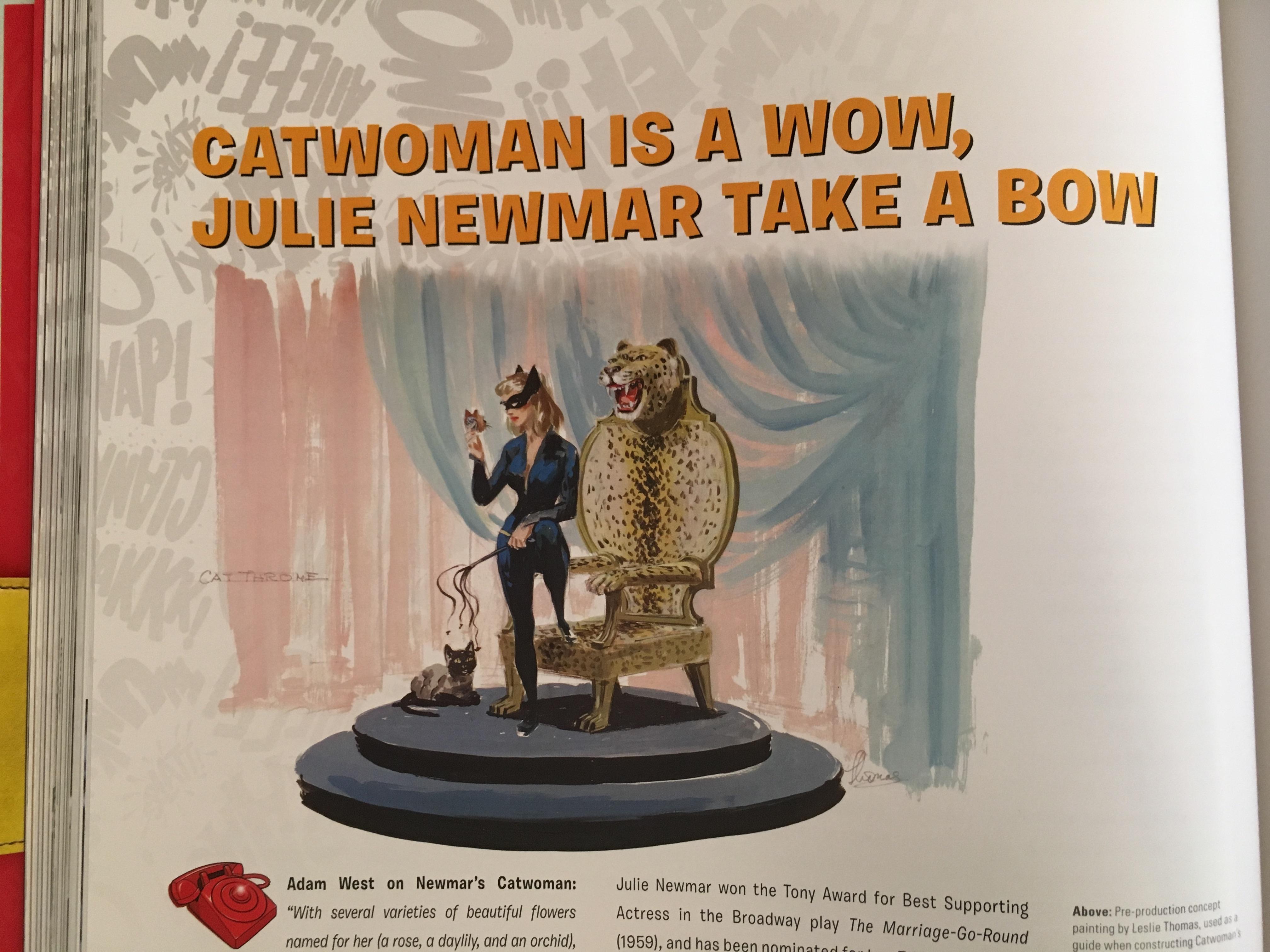 Catwoman -- as a blonde! (Julie Newmar has often worn her hair blonde.)