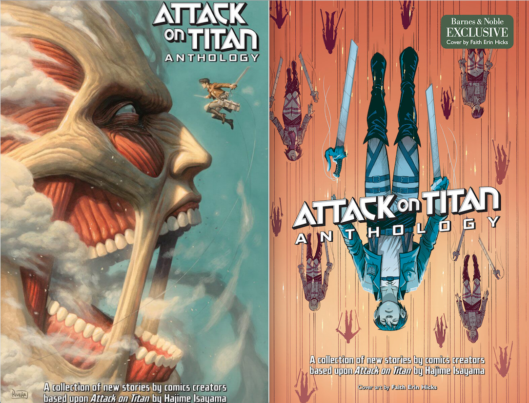 Paolo Rivera cover on left. Faith Erin Hicks Barnes & Noble variant on the right.