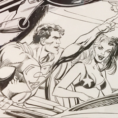 SNEAK PEEK: Neal Adams' SUPERMAN Vs. HARLEY QUINN Original Art