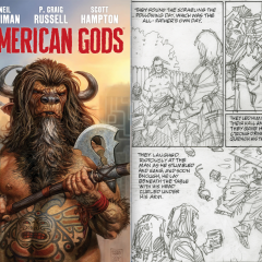 EXCLUSIVE FIRST LOOK: Simonson's Pencils for Gaiman's AMERICAN GODS