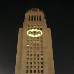 PHOTOS: L.A.'s BATSIGNAL Tribute to ADAM WEST