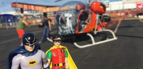 Funko Batman and Robin Take Flight in the 1966 BATCOPTER