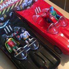 HOLY TECHNICOLOR! Funko's RED BATMOBILE is a Rad Ride