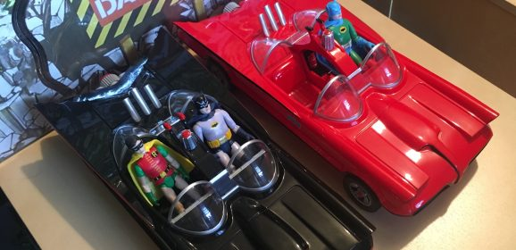 HOLY TECHNICOLOR! Funko's RED BATMOBILE is a Rad Ride