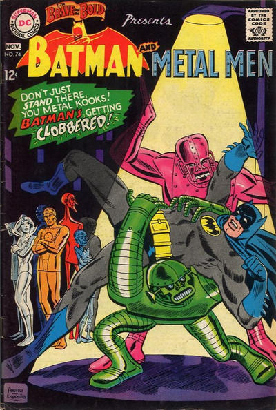 Brave and Bold #74, the last pre-Adams B&B cover. Art by Ross Andru, mimicking the DC house style.