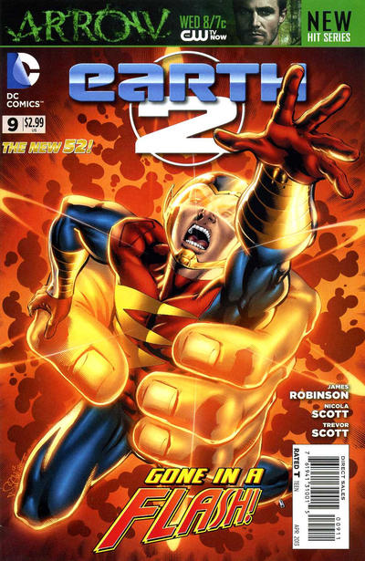 Earth 2 #9, with art of the Flash by Nicola Scott.