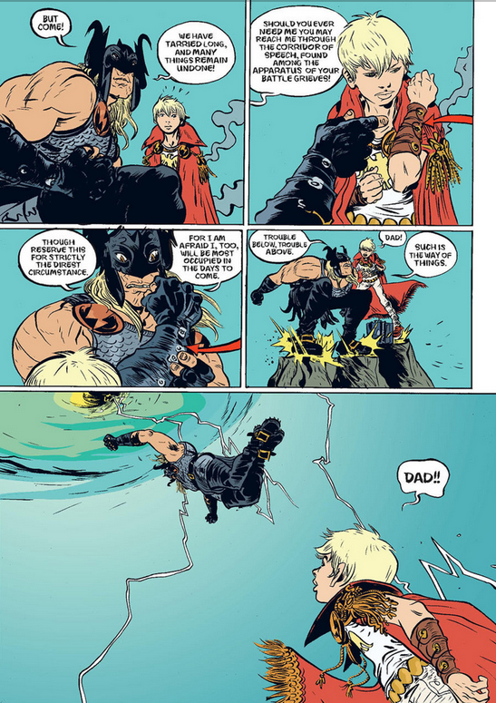 Page from Paul Pope's Battling Boy