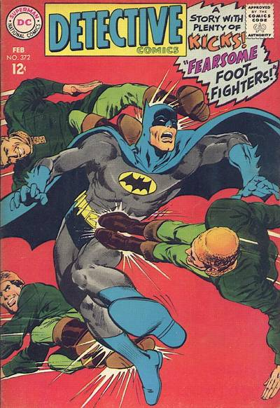 Detective Comics #372, Adams' first solo Batman cover. There are still echoes of the house style.