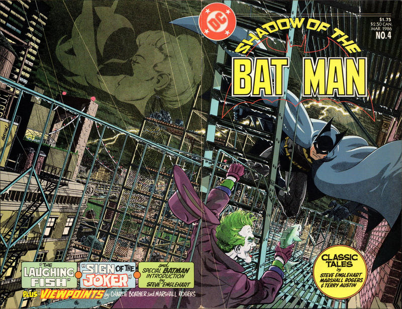 The story was reprinted in 1986 as a miniseries, Shadow of the Batman. Look at this wraparound cover from #5. Look at that detail! LOOK AT IT!