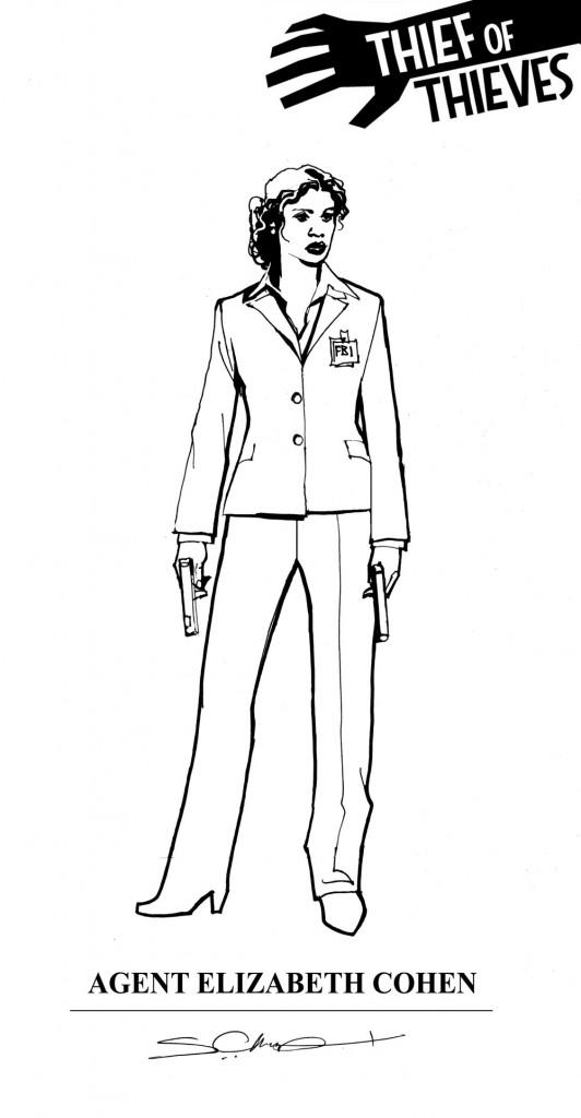 Character design for Elizabeth Cohen.