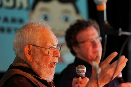 Al Jaffee interviewed by Danny Fingeroth during programming at Asbury Park Comicon March 30, 2013