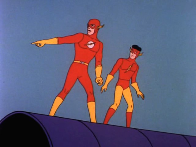 Forget Kid Flash. Even the Flash is off model!