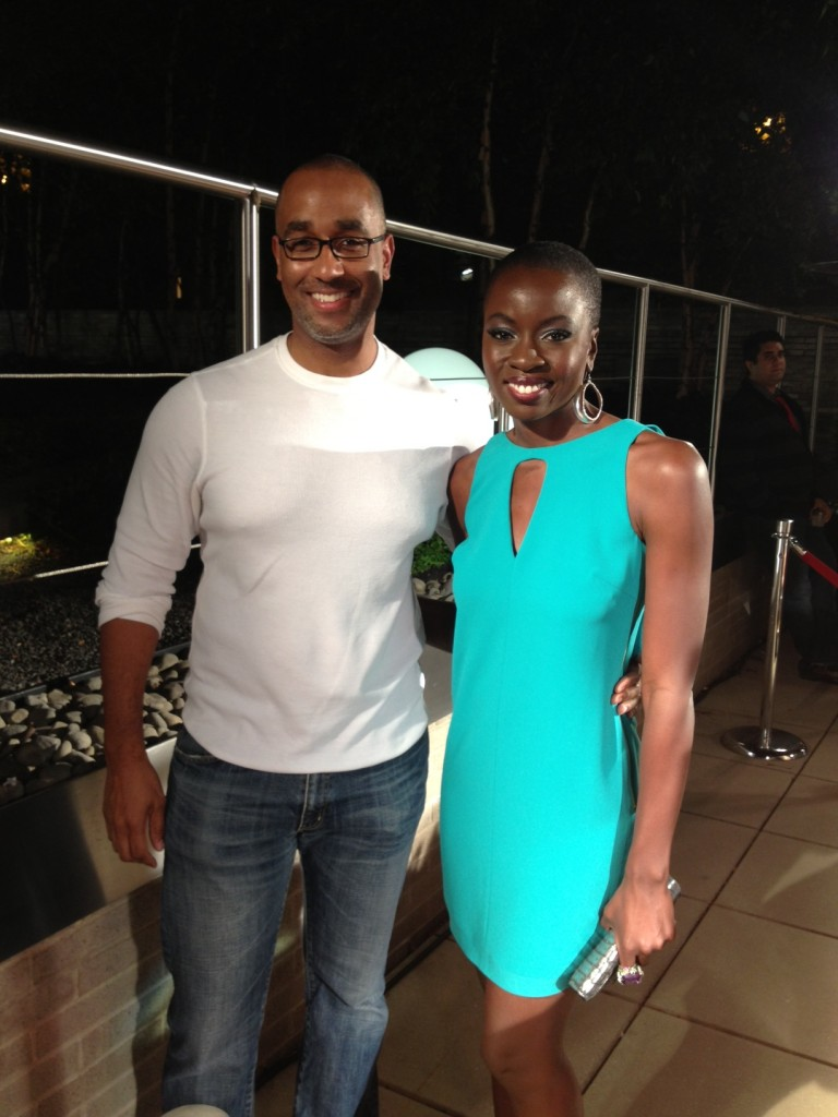 "Shawn Martinbrough with Danai Gurira -- Michonne from ""The Walking Dead"" -- at New York Comic Con last week!"