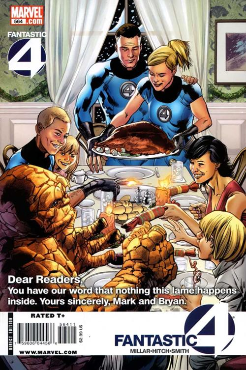 2009. This is a weird one because it's a Christmas issue that came out in February that borrows from Rockwell's Thanksgiving. But I'm using it because shut up.