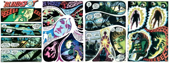 "Just prior to his Brave and the Bold masterworks, Nick Cardy produced a tour de force with ""Blindspot"" in Teen Titans #28 [July–Aug. 1970], which featured downright psychedelic imagery! TM & © DC Comics."