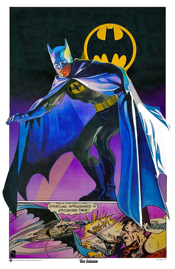 A copy of the Drew Struzan Batman poster I signed for Adam.