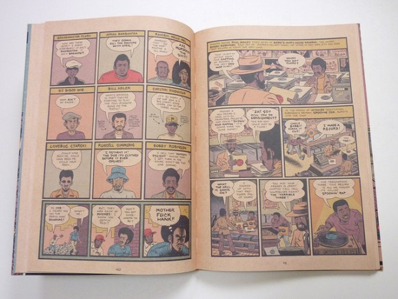 Ed Piskor's Hip Hop Family Tree told in 1970's style comic book printing.