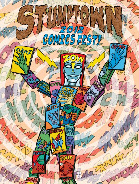 2012 Stumptown Comics Festival poster by Mike Allred.