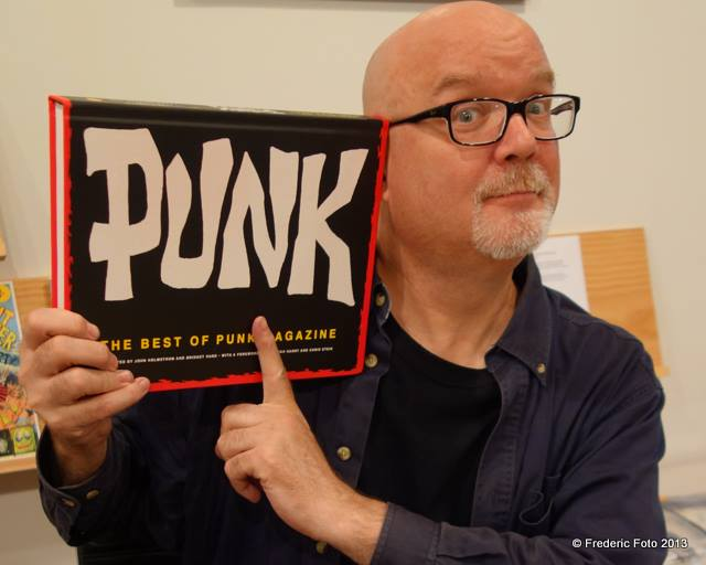 John Holmstrom with his book PUNK. Photo used by permission of Frederic Foto.