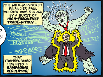 Hulk-like transformation of Paul Volcker