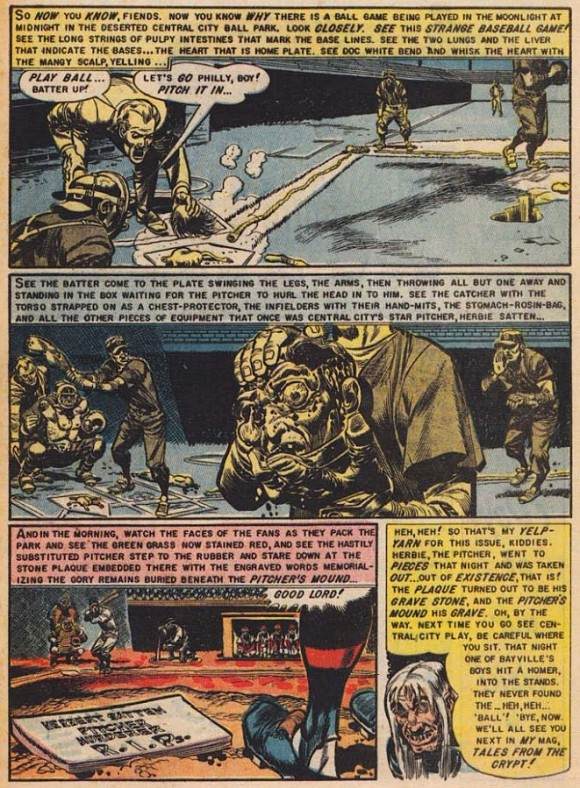 "Page from ""The Haunt of Fear"" cited by Fredric Wertham in ""Seduction of the Innocent, according to Collectors Weekly."
