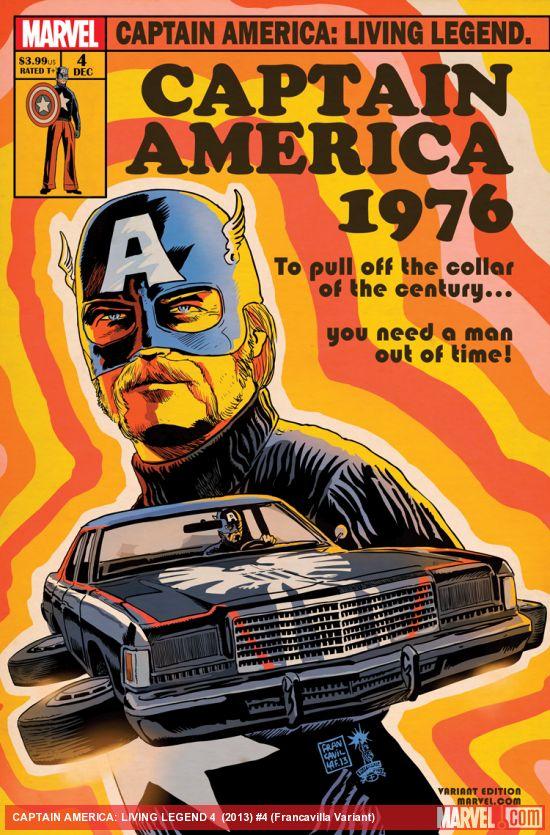 Captain America. With a porn stache. Thank you, Francesco Francavilla.