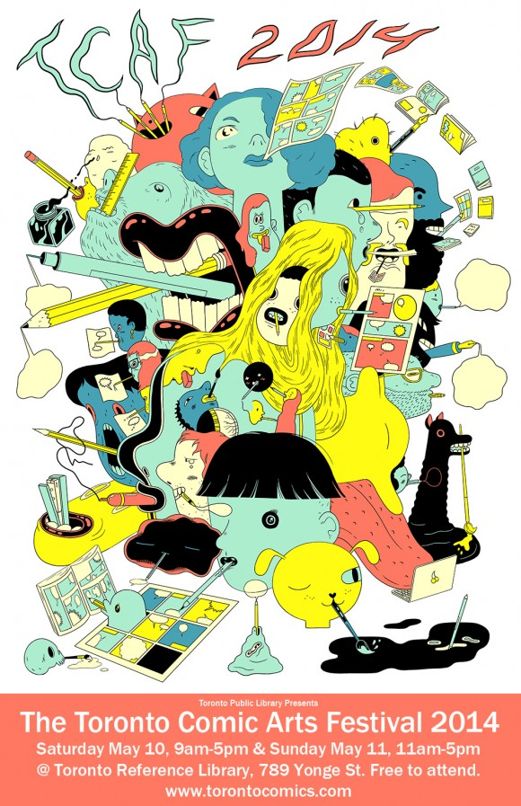 TCAF 2014 poster by Michael DeForge