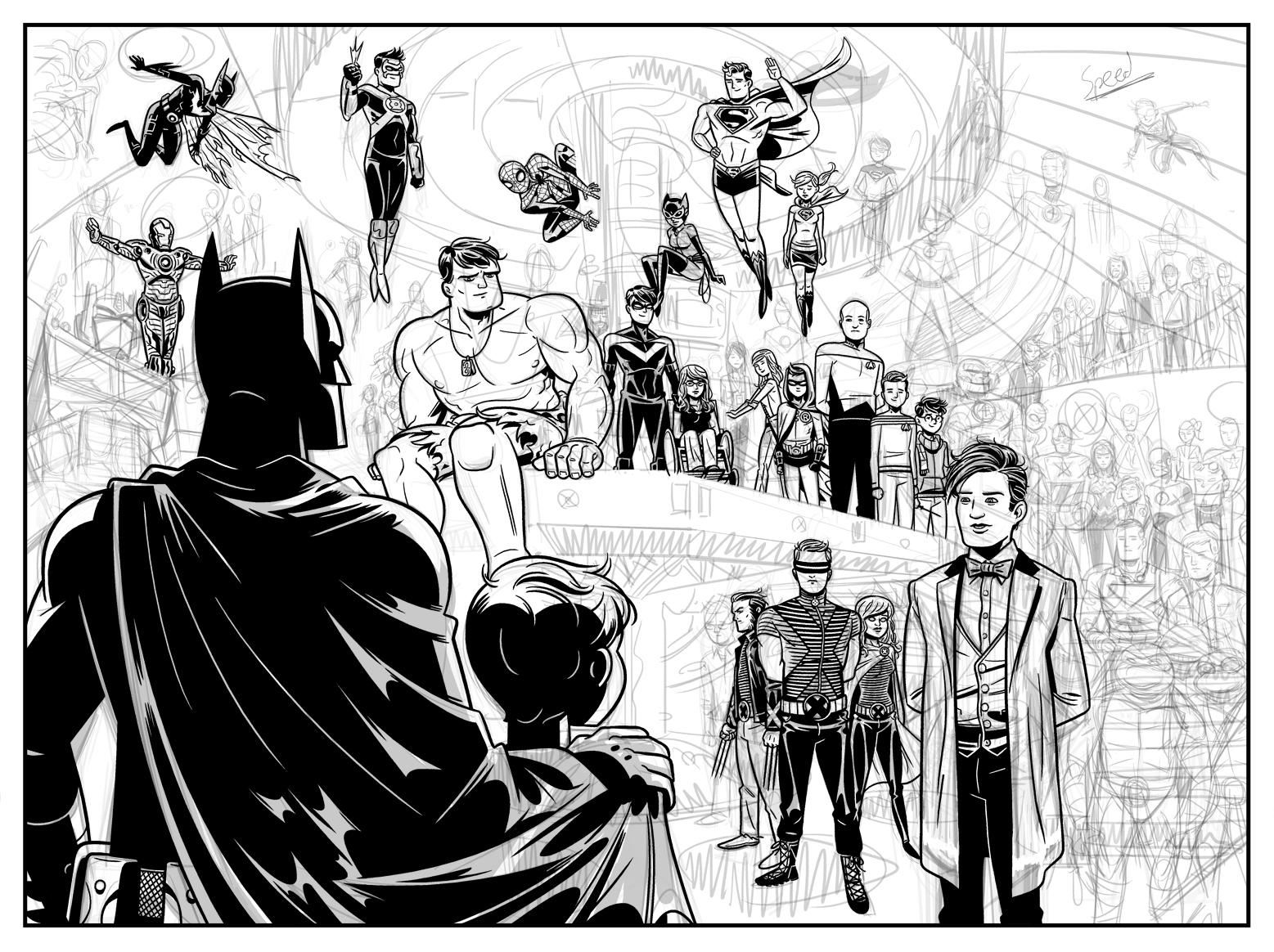 Beginning inks on Page 12