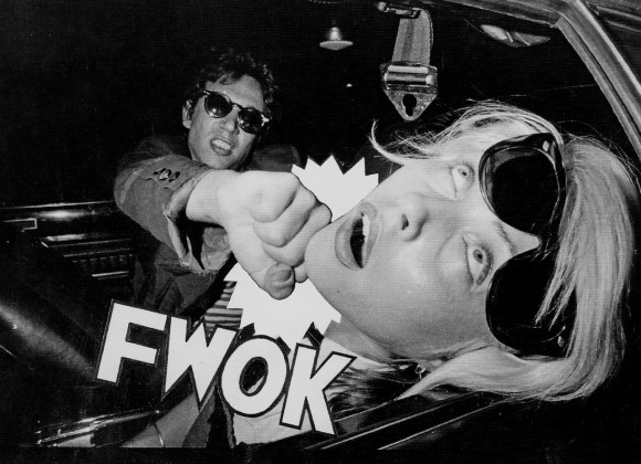 Richard Hell gives Blondie's Debbie Harry a sock on the jaw in Punk Magazine.