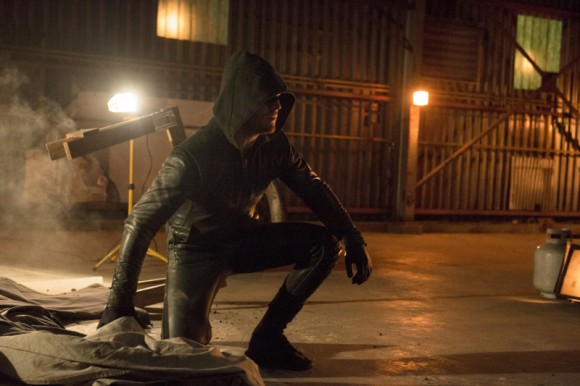 The Arrow, ready for action. Cate Cameron/The CW