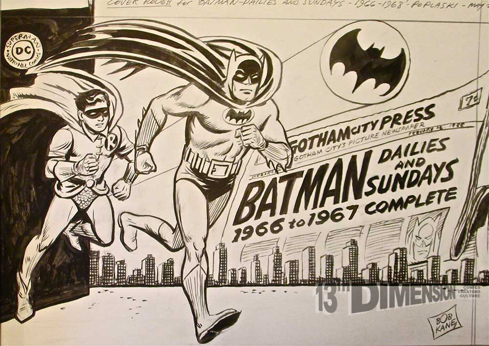 "Pete Poplaski doing his best ""Bob Kane""/Carmine Infantino. Batman ™ and © 2014 DC Comics."